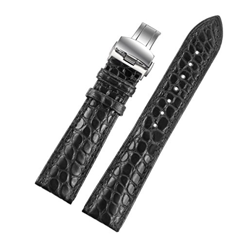 22mm-black-luxury-crocodile-leather-replacement-leather-watch-straps-bands-handmade-for-high-end-wat