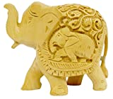 Pure Wooden Material Material Elephant Up Trunk in Fine Finishing Handicraft art by Bharat Haat BH03699