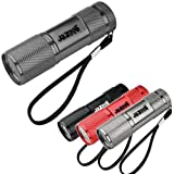 Jazooli Super Bright 9 LED Mini Torch Flashlight Light - Grey