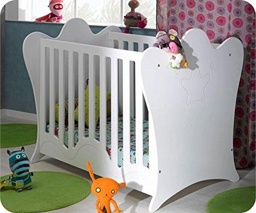 Babybett Linea weiß mit durchsichtigen Seiten 60 x 120 cm