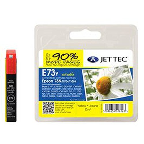 Jettec Patrone E73Y Epson 73N T0734 T1054 yellow