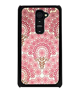 PrintDhaba Floral Pattern D-2106 Back Case Cover for LG G2 (Multi-Coloured)