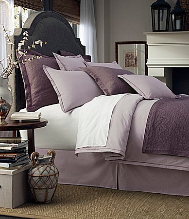 Noble Excellence San Marino 5 Piece Full/Queen Matelasse Coverlet Quilt Set - Purple