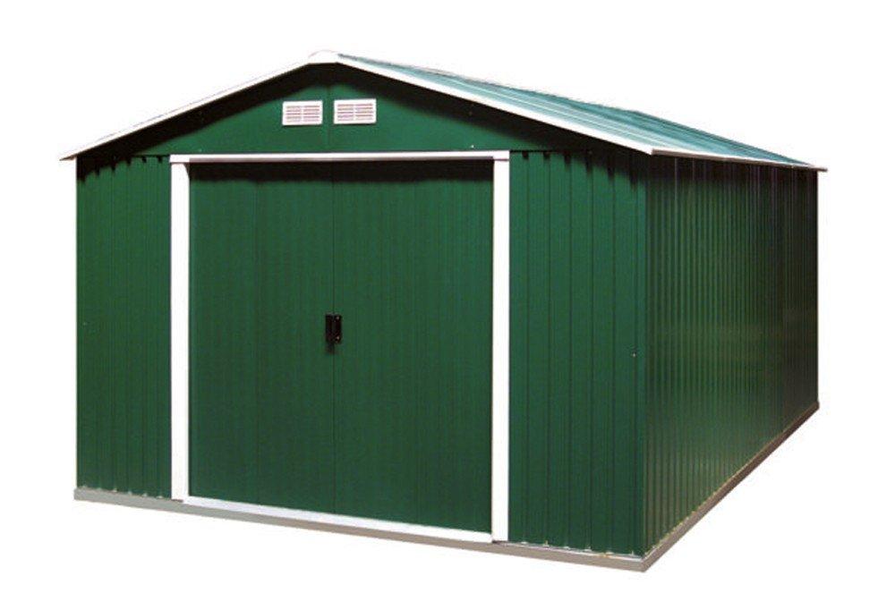 Tepro Gartenhaus / Metallgerätehaus Colossus 10x10 grün