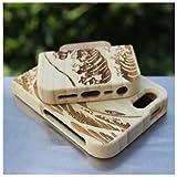 iphone5S ケース・天然木製・iphone5 ケース・アイフォン5S ケース・iphone5S カバー・WOOD・天然木・ウッド・木製・竹製・海の波・ライトバンブ
