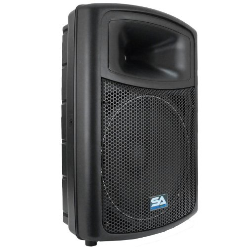 "Seismic Audio - Pws-15 - Powered Pa/Dj 15"" Molded Speaker - 600 Watts"