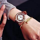 ZooooM ユニーク デザイン 文字盤 アナログ ウォッチ 腕 時計 ファッション アクセサリー おもしろ カジュアル メンズ レディース 男性 女性 男 女 兼 用 ( ブラウン ) ZM-WATCH566-BR