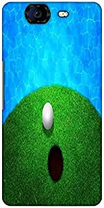 Snoogg Ball Near Water Golf Background Designer Protective Back Case Cover For Micromax Canvas Knight A350