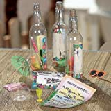 12 Message in a Bottle Luau Tropical Pool Party Invitations