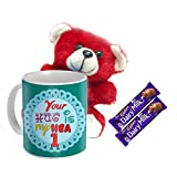Sky Trends Valentine Combo Gift For Wife Printed Coffee Mug Soft teddy With Sweet Chocolate's For Kiss Day Propose day Promise Day Hug Day Rose Day Gifts