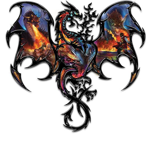 The Dragon's Fury Genuine Iron Wall Decor Collection