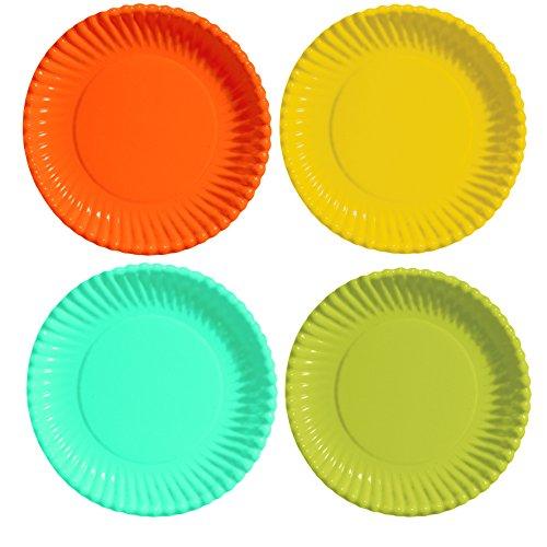 Tifany 8013259.0 Uni Assiette Carton Orange/Jaune/Bleu/Vert Lot de 40
