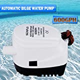 New 12V 600GPH Automatic Bilge Water Pump, Fully Automatic Submersible Electric Pump 2.5A with built in float switch system, no separate float switch needed