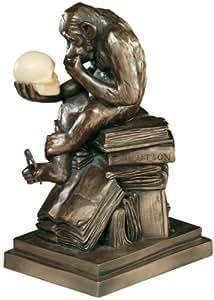 """8"""" Rodin's Thinker Desktop Ape Statue Sculpture Figurine"""