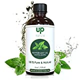 Peppermint Essential Oil 4 OZ - UpNature - 100% Pure & Natural, Premium Therapeutic Grade - With Glass Dropper - Perfect Aromatherapy Uses - Repellent for Mice, Spiders, Mosquitoes & Bugs