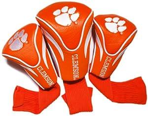 NCAA Clemson Tigers 3 Pack Contour Golf Club Headcover by Team Golf