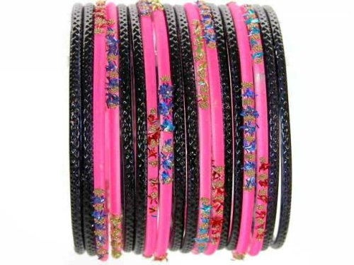 Beachcombers! Ethnic Glass Indian Wedding Bridal Bollywood Bangles Belly Dance Bracelets Set Bright Pink - Buy Beachcombers! Ethnic Glass Indian Wedding Bridal Bollywood Bangles Belly Dance Bracelets Set Bright Pink - Purchase Beachcombers! Ethnic Glass Indian Wedding Bridal Bollywood Bangles Belly Dance Bracelets Set Bright Pink (Beachcombers!, Apparel, Departments, Accessories, Women's Accessories, Wedding)