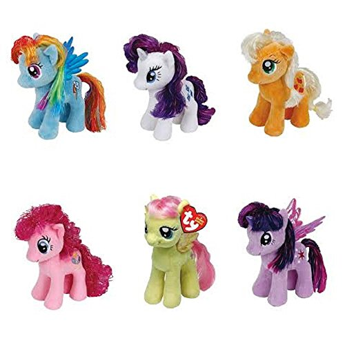 Ty My Little Pony Friendship Magic 6 Inch Beanie Babies Collection - Plush  Doll 6 Pieces ba65bafd7237