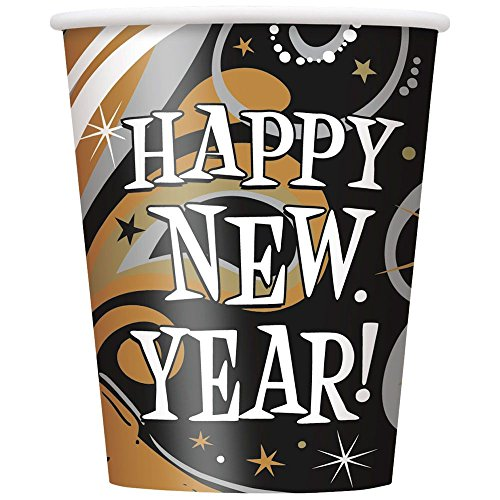 New Year's Burst Party Supplies Cups (8 Pack)