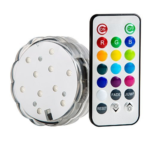 Soondar® Multicolor Led Submersible Party Light Base With Remote Control