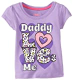 Young Hearts Girls 2-6X Daddy Loves Me Tee