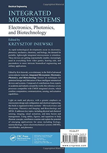 Integrated Microsystems: Electronics, Photonics, and Biotechnology (Devices, Circuits, and Systems) by CRC Press