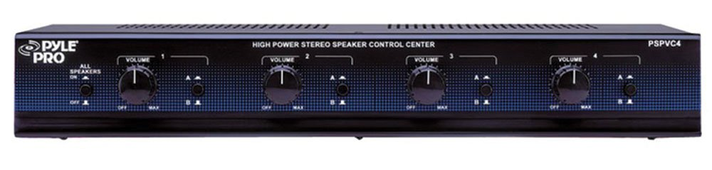 Pyle Pyle Home PSPVC4 4-Channel High Power Stereo Speaker Selector with volume Control