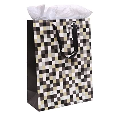 MyGift Cool Pixels Style Party / Birthday Gift Bags and Tissues - Set of 3