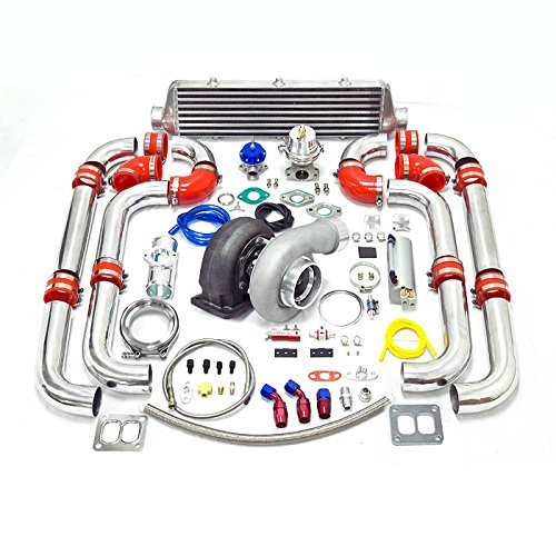 Universal Turbocharged Upgrade GT45 T4 12pc Turbo Kit (Turbo Kits 350z compare prices)