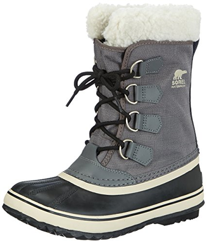 Sorel - Stivali da neve senza rivestimento interno, Donna, Grigio (Grau (Pewter, Black 035)), 41 EU