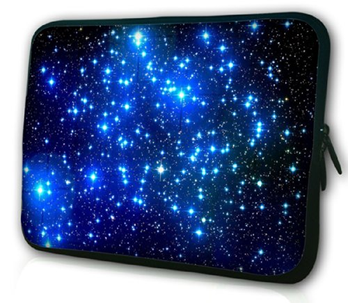 Waterfly® Fashion Shinny Stars 12.5 13 13.1 13.3 Inch Laptop Notebook Netbook Computer Tablet PC Soft Neoprene Sleeve Case Bag Pouch Carrying Holder Protector for Apple Macbook Pro 13 Macbook Air 13.3 Macbook Unibody Sony VAIO T13 13.3 Lenovo ThinkPad X301 13.3 And Most 12.5 13 13.3 Laptop Ultrabook Chromebook Laptop