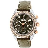 [オメガ]OMEGA 腕時計 スピードマスター グレー文字盤 ダイヤ 自動巻 K18PG/ステンレスケース 100M防水 324.28.38.40.06.001 レディース 【並行輸入品】