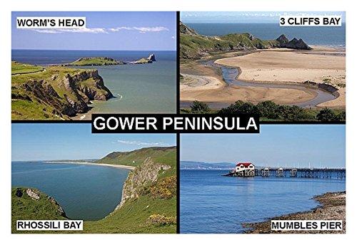 souvenir-fridge-magnet-the-gower-peninsula-mumbles-wales-9cm-x-6cm-jumbo