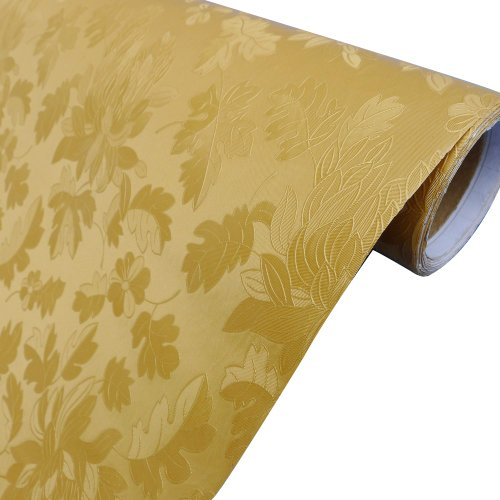 """23.8*195"""" Personality And Fashional Style Pvc Wall Paper,Apply To The Sitting Room,Study Room,Bar,Tea Houses,And Hotel Background Wallpaper. (Bitter Melon Golden)"""