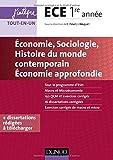 Economie, Sociologie, Histoire du monde contemporain, Economie approfondie - ECE 1re année
