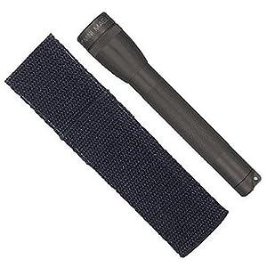 Mag-Lite M2A01H Mini Maglite AA Taschenlampe 14,5 cm schwarz inkl. 2 Mignon-Batterien und Nylonholster