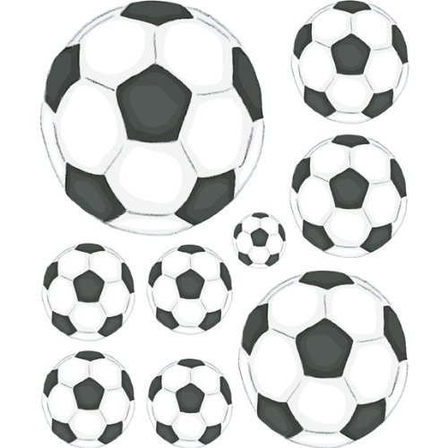 Instant Murals Soccer Wall Transfer Stickers - Sports Balls