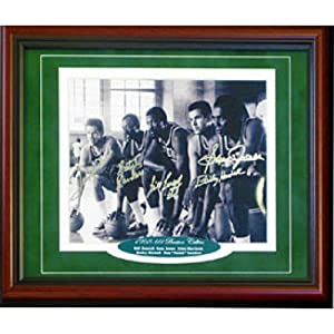 1968-1969 Boston Celtics Autographed Signed Framed Starting Five 8x10 Photo by Hollywood Collectibles