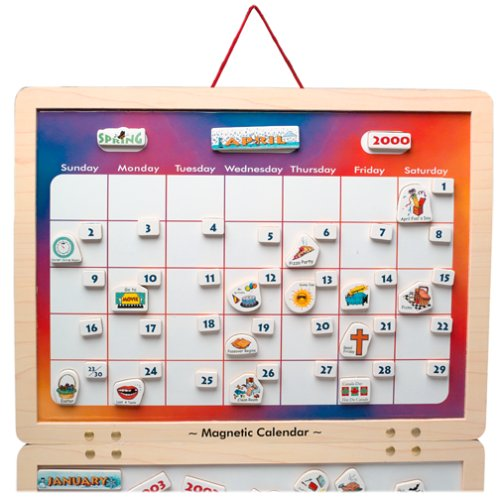 Magnetic Weekly Calendar For Refrigerator : My monthly magnetic perpetual calendar findgift
