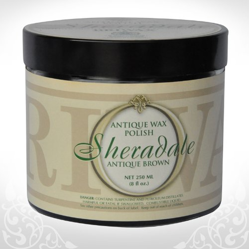 Briwax Sheradale Antique & Fine Furniture Wax Polish - Antique Brown 250ml (8 oz)