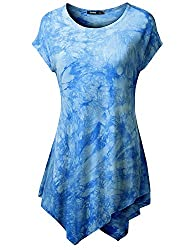 Thanth Womens Comfy Tie Dyed Loose Tu…