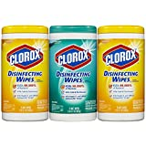 Clorox Disinfecting Wipes Value Pack, Fresh Scent and Citrus Blend, 75 Count (Pack of 3)