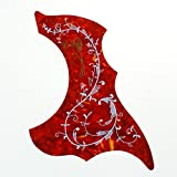 Pakala66 Hummingbird Style Acoustic Guitar Pickguard(Red)
