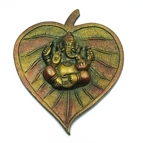 Seigneur Ganesha Brass Statue Attractive Wall Hanging Wall Decor Sculpture ethnique indienne