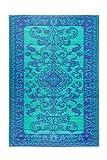 Achla Designs Classic Duotone Floor Mat, 4 by 6-Inch, Lapis Lazuli