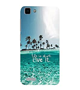 ifasho life is short live it Back Case Cover for VIVO Y27