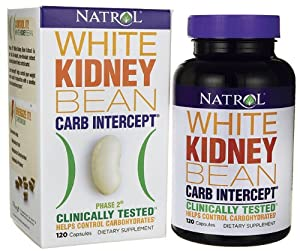 Natrol White Kidney Bean Carb Intercept,  120 Capsules