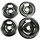 Range Kleen 10124XZ Universal Drip Pans 4 Pack Containing 3 Units 101Am And 1 Unit 102Am, Chrome