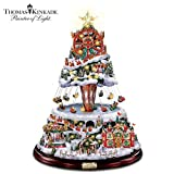 5126NfswgXL. SL160  Thomas Kinkade Illuminated Musical Rotating Tabletop Christmas Tree: Winter Festival by The Bradford Exchange