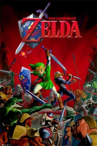 Legend of Zelda - Battle Stampa Artistica Poster (55,88 x 86,36 cm)
